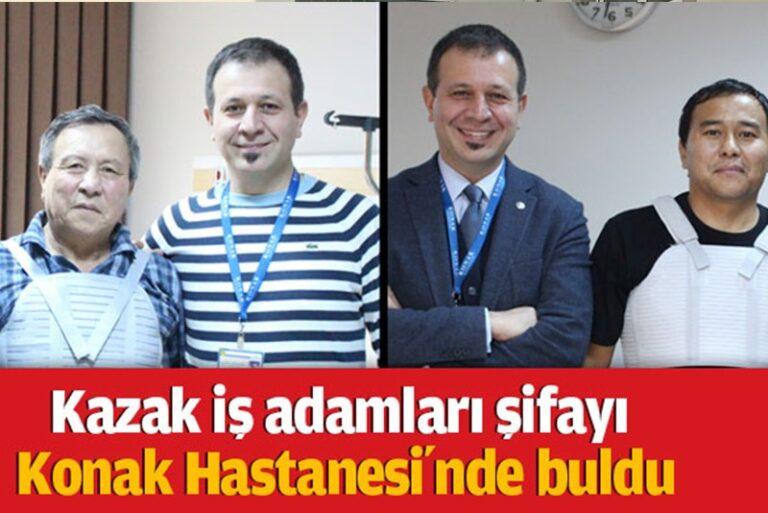 Kazak iş adamları şifayı Konak Hastanesi'nde buldu